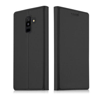 Samsung Galaxy A6+ (2018) Kotelo Tummanharmaa