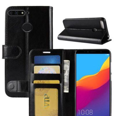 Huawei Honor 7A Suojakotelo Musta Lompakko