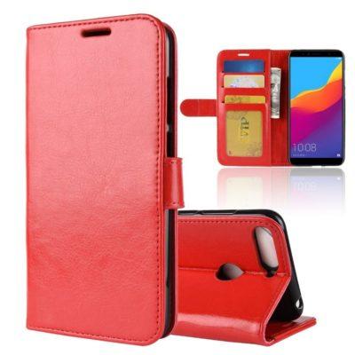 Huawei Honor 7A Suojakotelo Punainen Lompakko