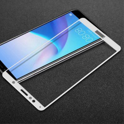 Huawei Honor 7A Täysin Peittävä Panssarilasi Valkoinen