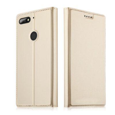 Huawei Honor 7C Kannellinen Suojakotelo Kulta