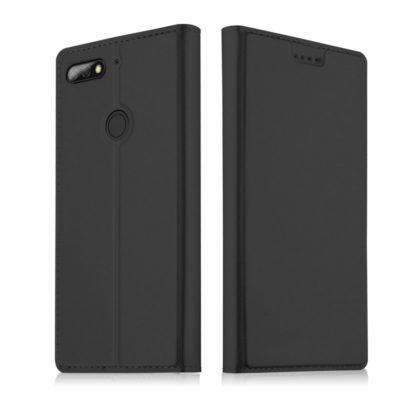 Huawei Honor 7C Kannellinen Suojakotelo Musta