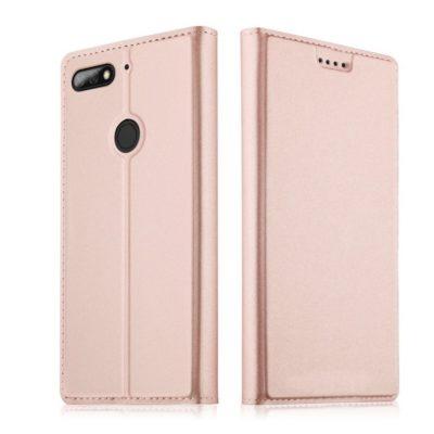 Huawei Honor 7C Kannellinen Suojakotelo Ruusukulta
