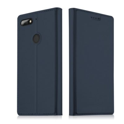 Huawei Honor 7C Kannellinen Suojakotelo Tummansininen