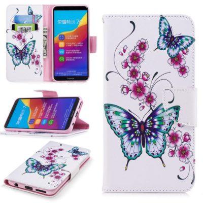 Huawei Honor 7C Lompakko Suojakotelo Perhonen 1