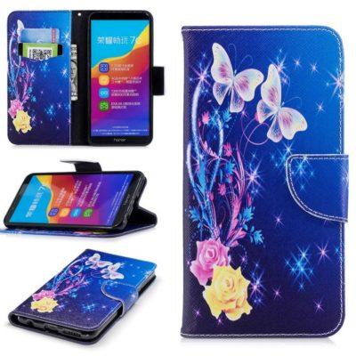 Huawei Honor 7C Lompakko Suojakotelo Perhonen 2