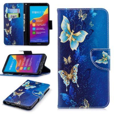 Huawei Honor 7C Lompakko Suojakotelo Perhonen 3