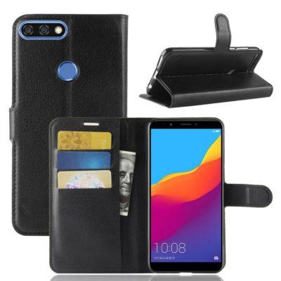 Huawei Honor 7C Lompakkokotelo Musta