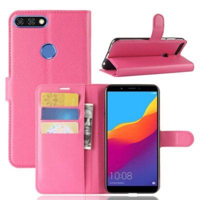 Huawei Honor 7C Lompakkokotelo Pinkki