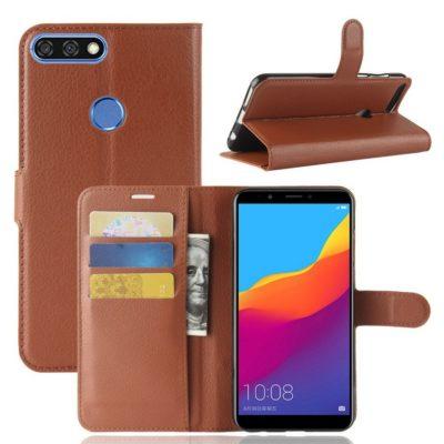 Huawei Honor 7C Lompakkokotelo Ruskea