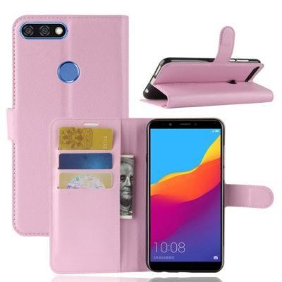 Huawei Honor 7C Lompakkokotelo Vaaleanpunainen
