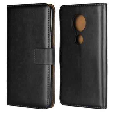 Motorola Moto E5 Nahkakotelo Musta