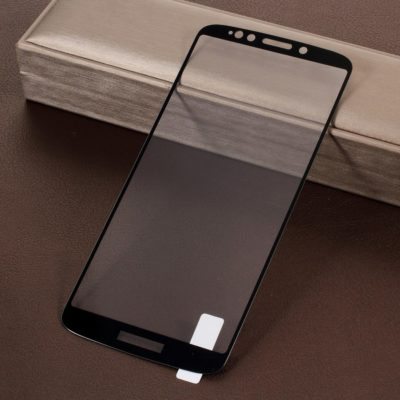 Motorola Moto E5 Plus Täysin Peittävä Suojalasi Musta