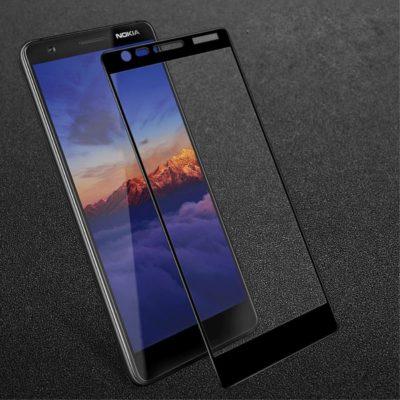 Nokia 3.1 (2018) Täysin Peittävä Panssarilasi Musta
