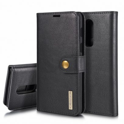 OnePlus 6 2-in-1 Nahkakotelo DG.MING Musta