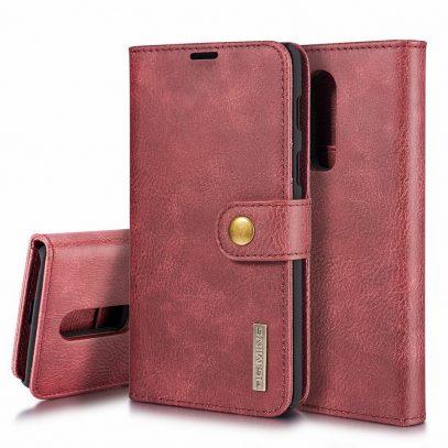 OnePlus 6 2-in-1 Nahkakotelo DG.MING Punainen
