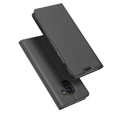 Samsung Galaxy J6 (2018) Kotelo Dux Ducis Tummanharmaa