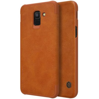 Samsung Galaxy J6 (2018) Kotelo Nillkin Qin Ruskea