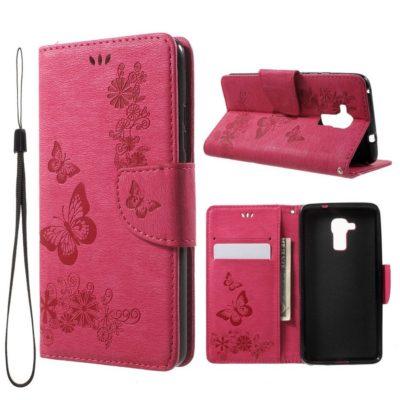 Huawei Honor 7 Lite Suojakotelo Perhonen Pinkki