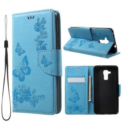 Huawei Honor 7 Lite Suojakotelo Perhonen Vaaleansininen
