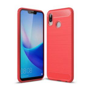 Huawei Honor Play Suojakuori Hiilikuitu Punainen
