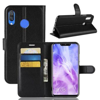 Huawei Nova 3 Suojakotelo Musta Lompakko