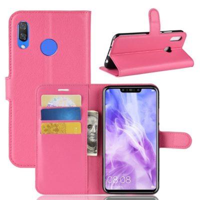 Huawei Nova 3 Suojakotelo Pinkki Lompakko