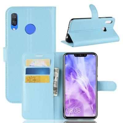 Huawei Nova 3 Suojakotelo Sininen Lompakko