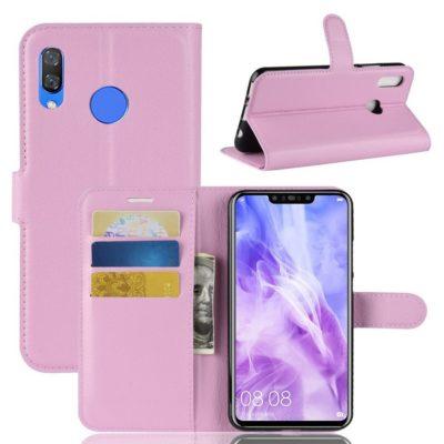 Huawei Nova 3 Suojakotelo Vaaleanpunainen Lompakko