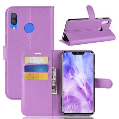 Huawei Nova 3 Suojakotelo Violetti Lompakko