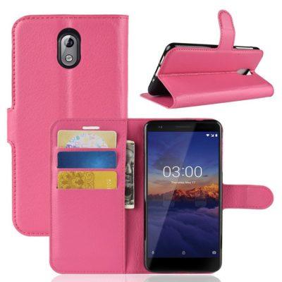Nokia 3.1 (2018) Lompakkokotelo Pinkki