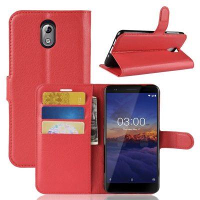 Nokia 3.1 (2018) Lompakkokotelo Punainen