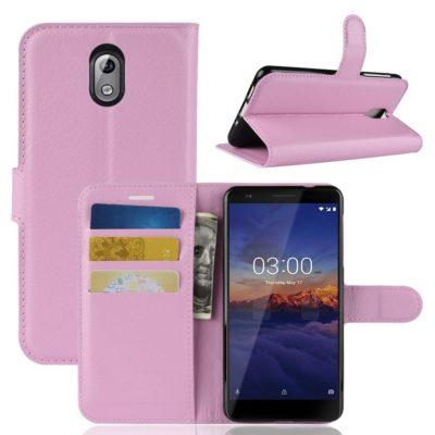 Nokia 3.1 (2018) Lompakkokotelo Vaaleanpunainen