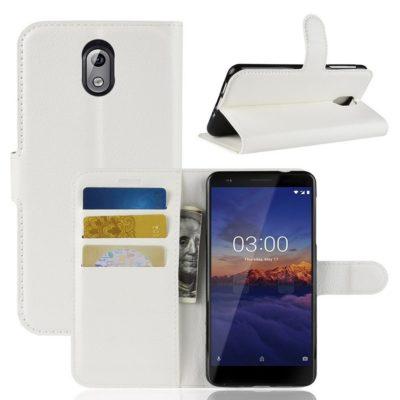 Nokia 3.1 (2018) Lompakkokotelo Valkoinen