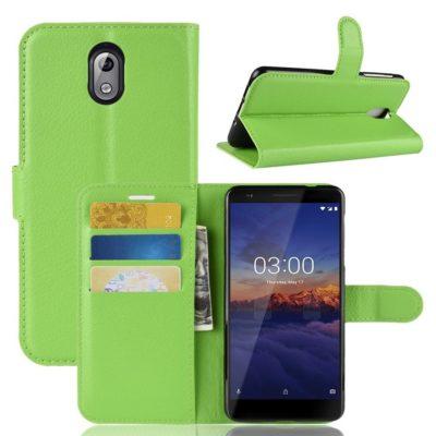 Nokia 3.1 (2018) Lompakkokotelo Vihreä