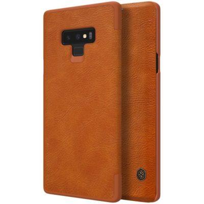 Samsung Galaxy Note 9 Kotelo Nillkin Qin Ruskea