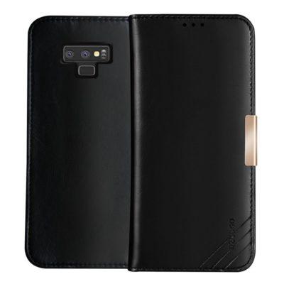 Samsung Galaxy Note 9 Nahkakotelo DZGOGO Musta