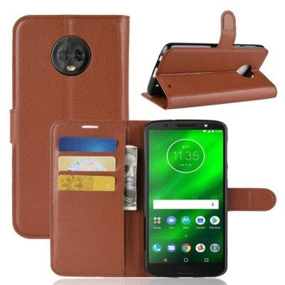 Motorola Moto G6 Plus Suojakotelo Ruskea