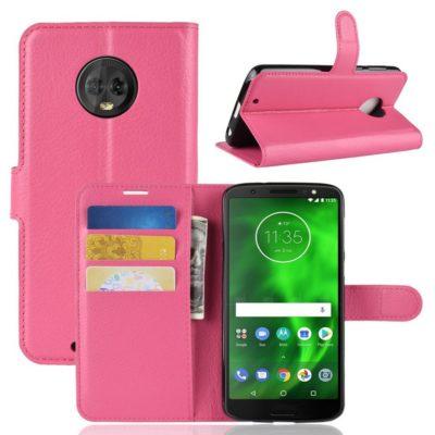 Motorola Moto G6 Suojakotelo Pinkki Lompakko