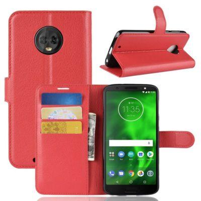 Motorola Moto G6 Suojakotelo Punainen Lompakko