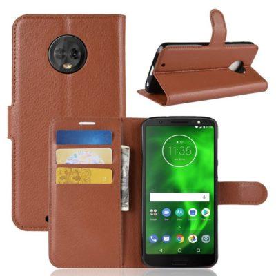 Motorola Moto G6 Suojakotelo Ruskea Lompakko
