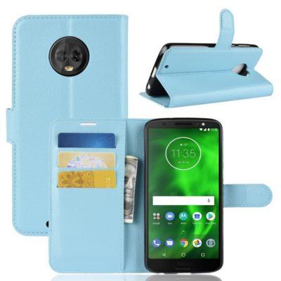 Motorola Moto G6 Suojakotelo Sininen Lompakko