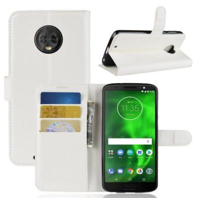 Motorola Moto G6 Suojakotelo Valkoinen Lompakko