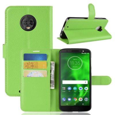 Motorola Moto G6 Suojakotelo Vihreä Lompakko
