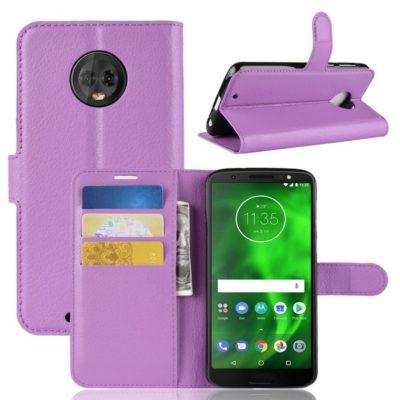 Motorola Moto G6 Suojakotelo Violetti Lompakko