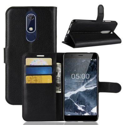 Nokia 5.1 (2018) Lompakkokotelo Musta