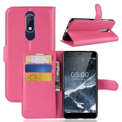 Nokia 5.1 (2018) Lompakkokotelo Pinkki