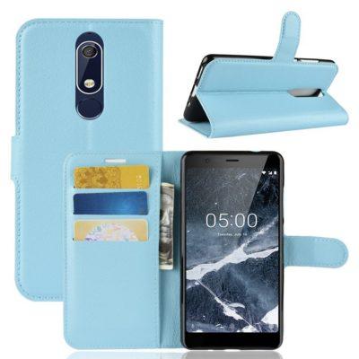 Nokia 5.1 (2018) Lompakkokotelo Sininen