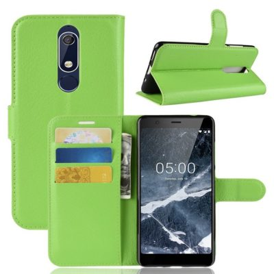Nokia 5.1 (2018) Lompakkokotelo Vihreä