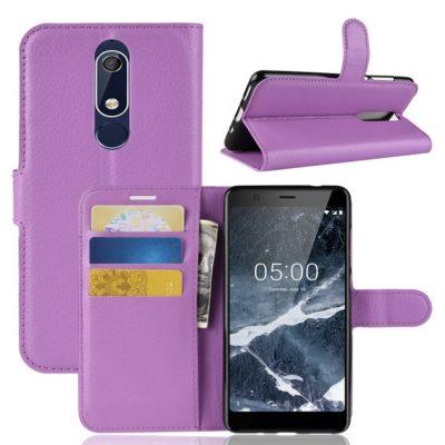 Nokia 5.1 (2018) Lompakkokotelo Violetti